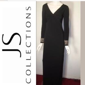 JS Boutique Grecian style Gown Jersey Stretch Sz 4